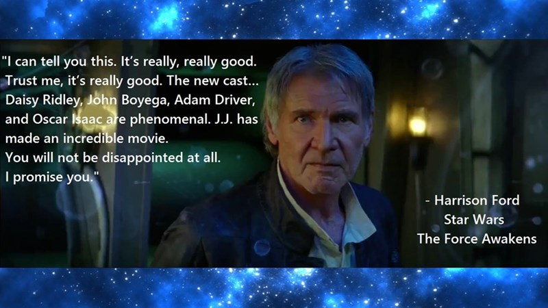 star wars star wars vii Harrison Ford - 8581709312