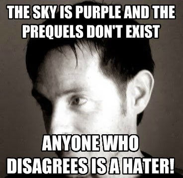 THE SKY IS PURPLE AND THE PREQUELS DON'T EXIST