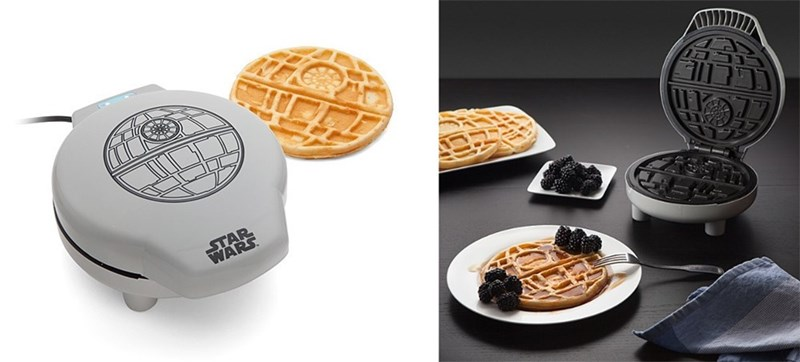 geek merch star wars death star waffle iron