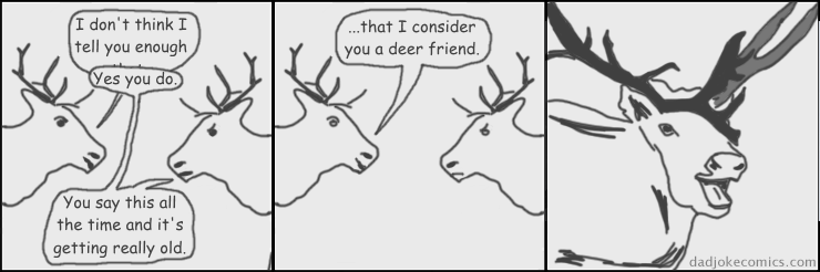 deer web comics puns Seriously, I Caribou