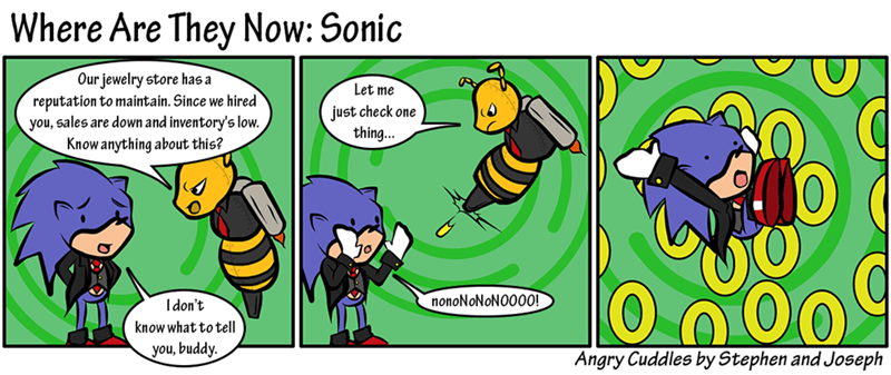 sonic web comics He Wasn't Cut Out for This