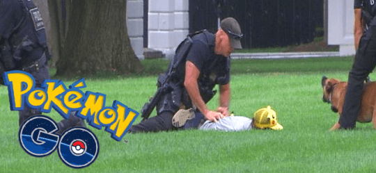 pokemon go pikachu whitehouse lawn