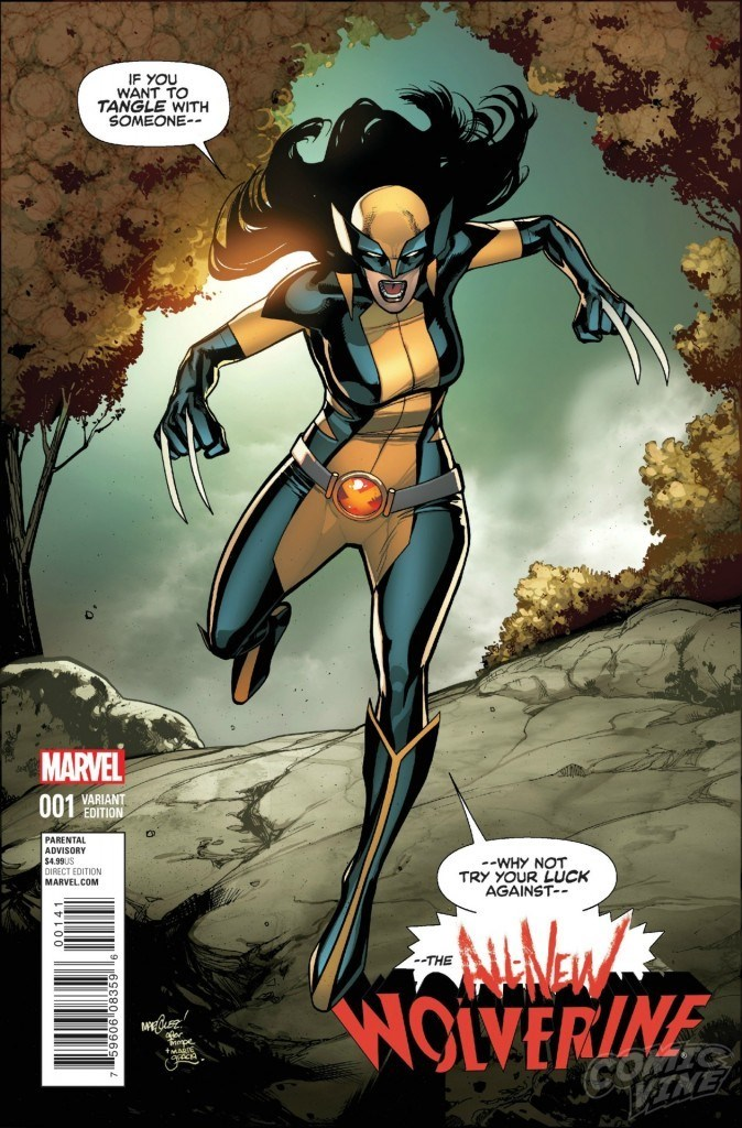 """x men wolverine X-23, the Female Wolverine Clone, Will Wear the Black and Yellow X-Men Uniform in """"All-New Wolverine"""""""