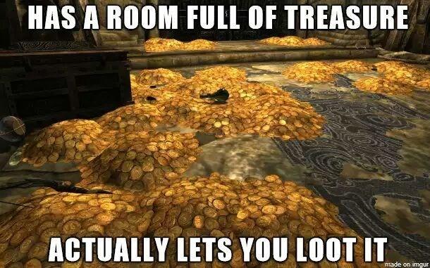 video games skyrim treasure