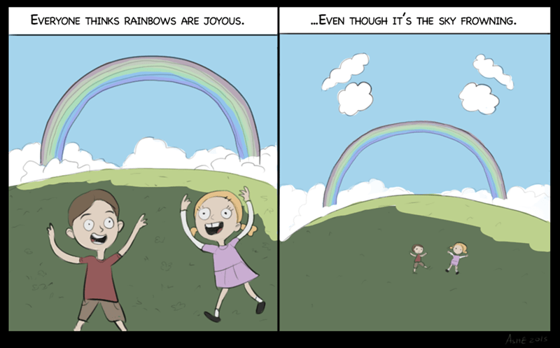 web comics rainbow Double Rainbows are Double Sad