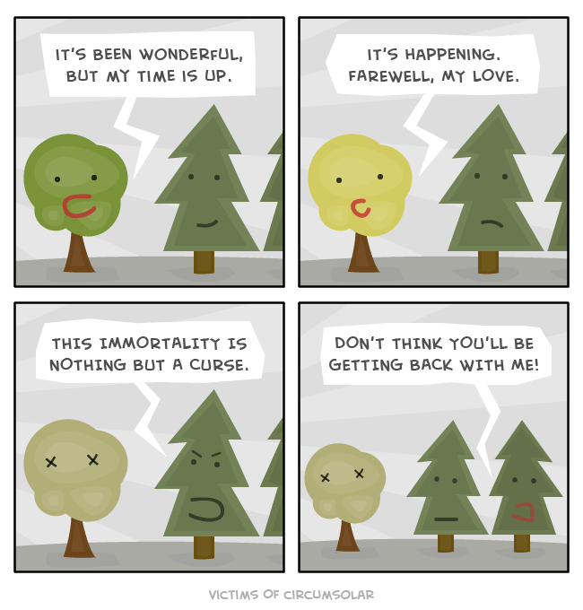 puns trees web comics I Will Pine for You