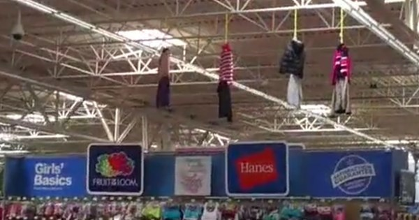 Controversy of The Day: Walmart Clothing Display Resembles Hanged People