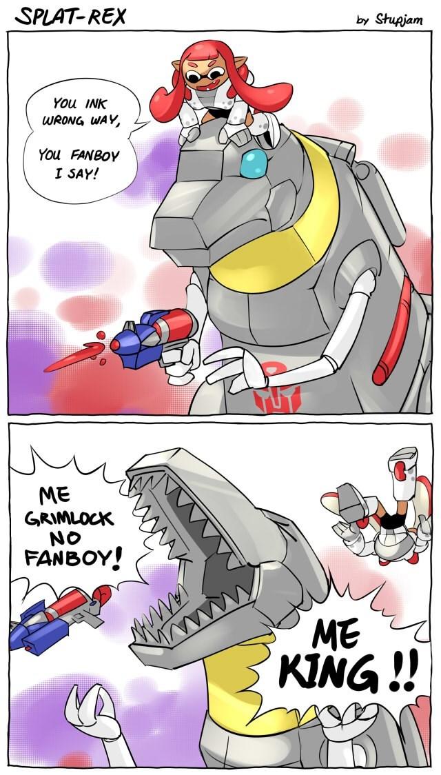 grimlock Fan Art splatoon web comics - 8583080192
