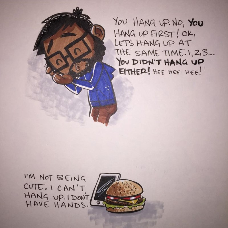 web comics hamburger True Love