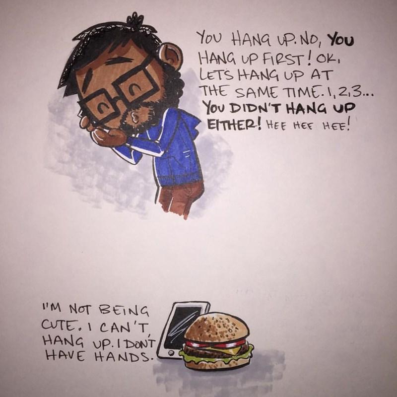 web comics hamburger True Love