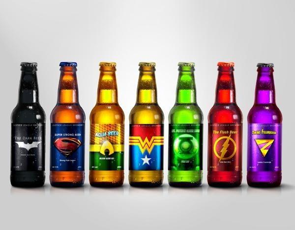 cool beer superheroes Colorful Super Hero Beer