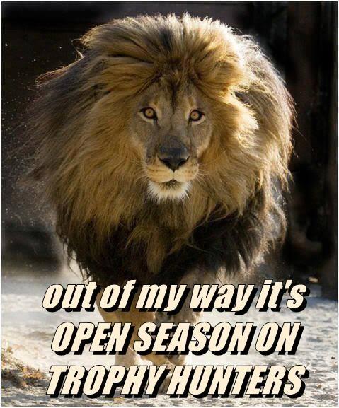 out of my way it's OPEN SEASON ON TROPHY HUNTERS