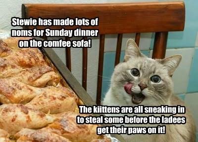 Sunday dinner on the Comfee Sofa!