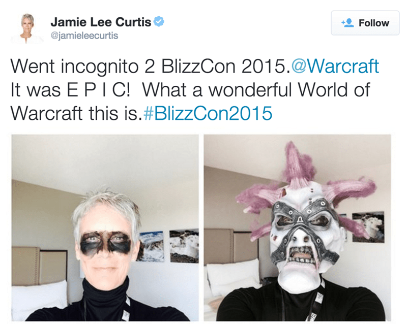 video games jamie lee curtis incognito at blizzcon