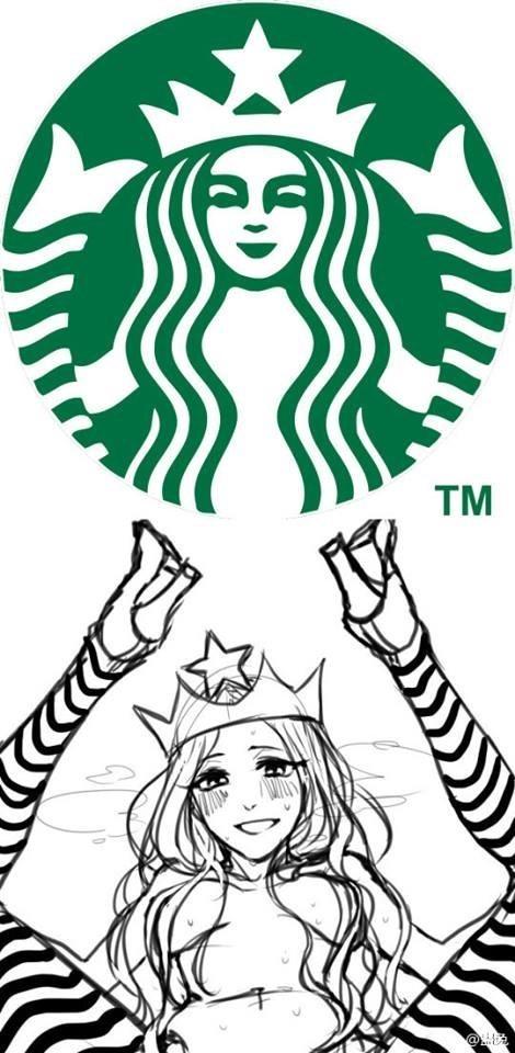 funny memes starbucks logo looks naughty