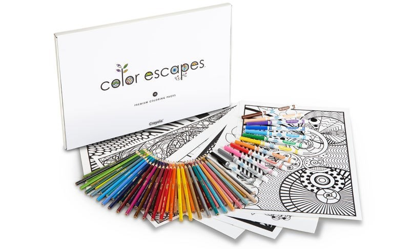 Crayola coloring books Escapism of the Day: Now You Never Have to Grow Up With Adult Coloring Book Kits