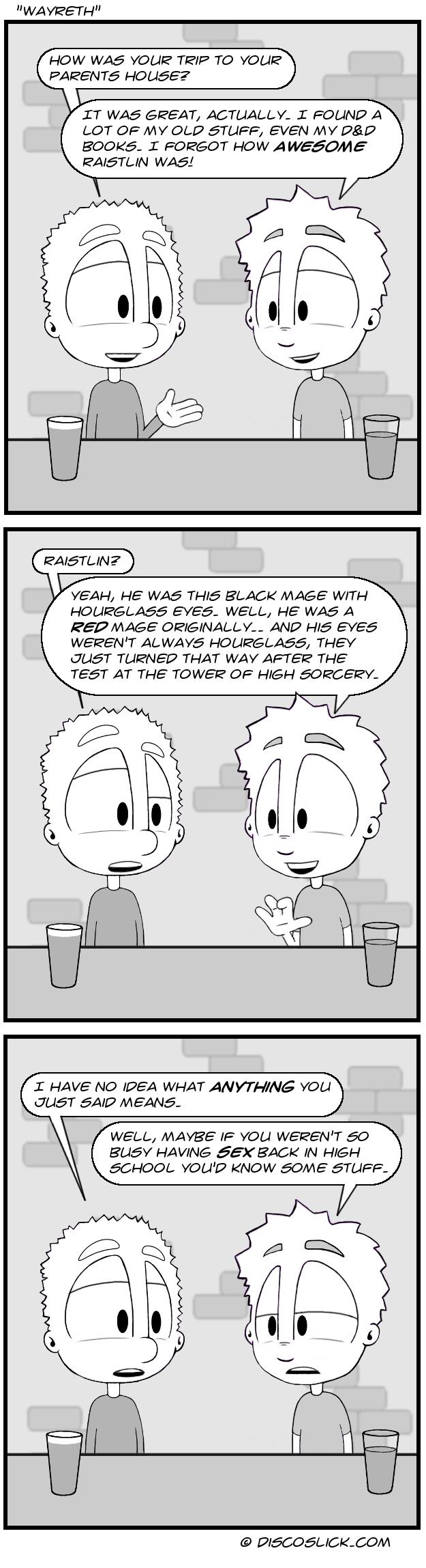 web comics D&D What a Loser