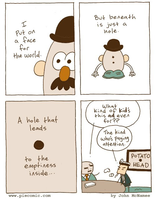 web comics toys That Mr. Potato Head, He Gets Me
