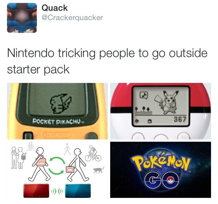 pokemon memes nintendo go outside starter pack