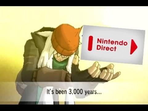 pokemon memes nintendo direct 3000 years