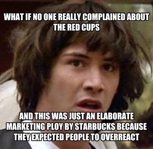 conspiracy keanu christmas Starbucks starbucks red cups - 8584054016