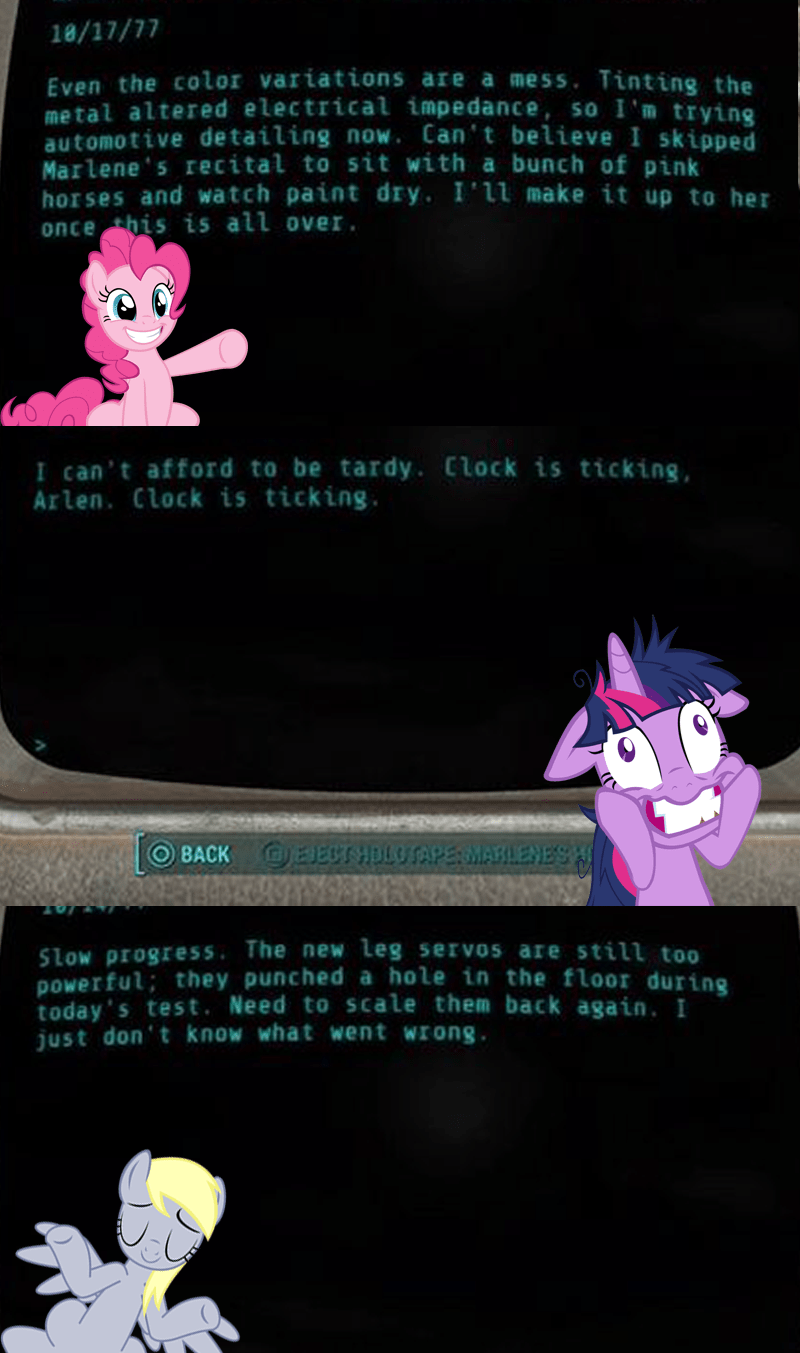 fallout 4 derpy hooves twilight sparkle pinkie pie - 8584253440