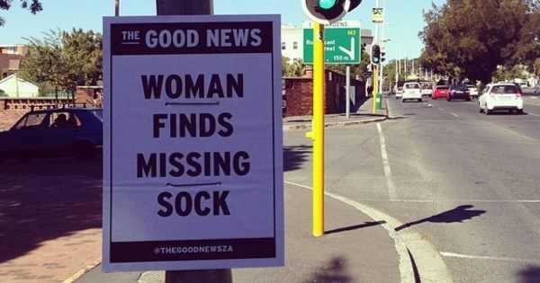 Instagram of The Day: Artist is Sharing The 'Good News' With Punny Street Signs