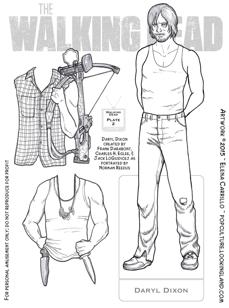 And Here's a Daryl Dixon Paper Doll For Your Stocking