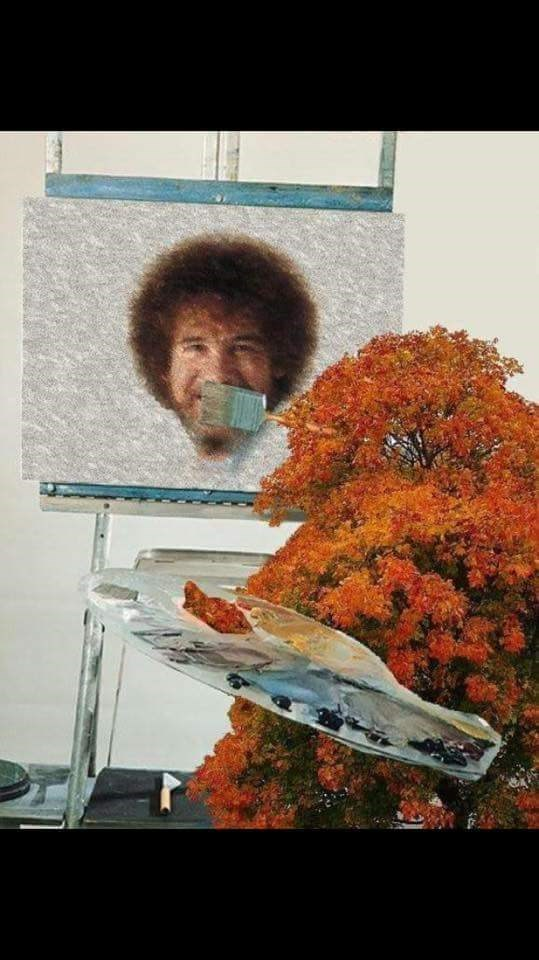 funny memes bob ross happy trees face swap