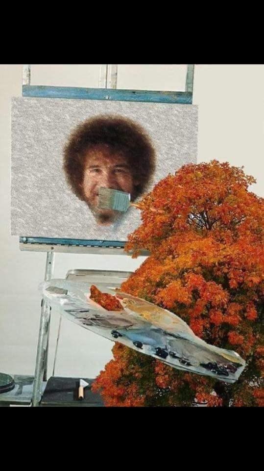 funny memes bob ross happy trees face swap