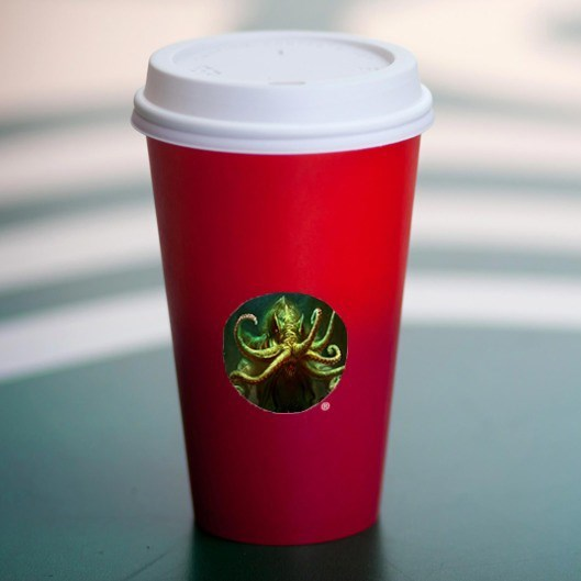 starbucks red cup cthulhu - 8584692480