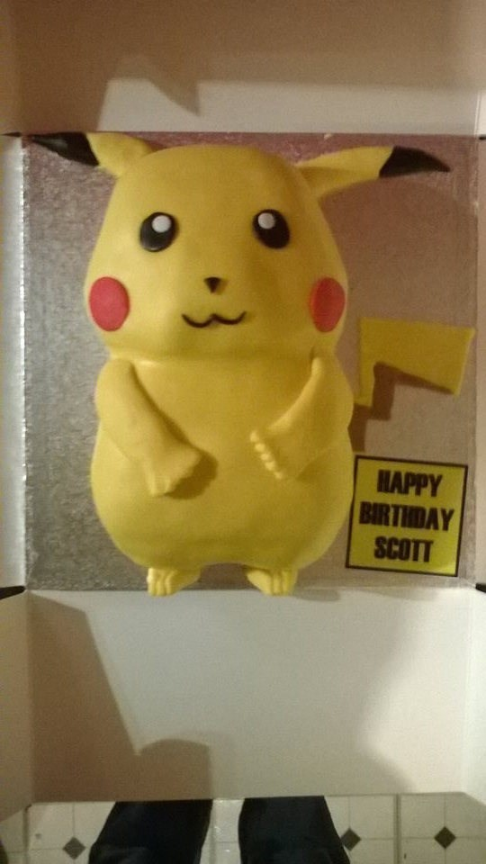 cake pikachu happy birthday