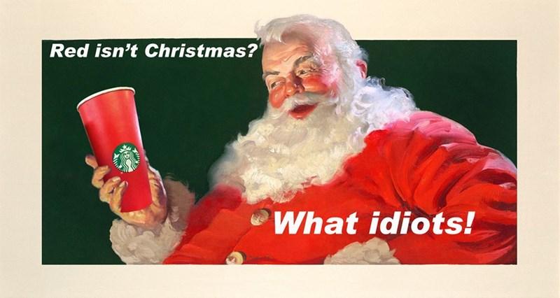 Red isn't Christmas?