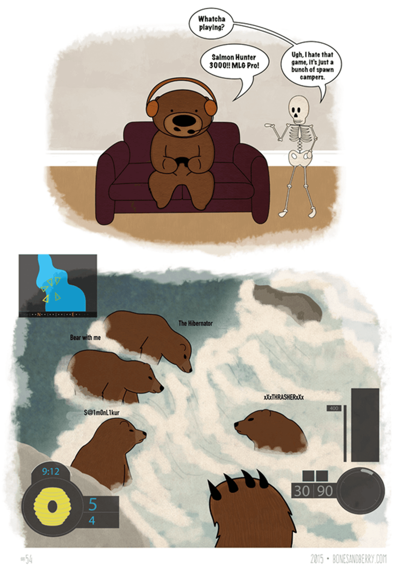 bear web comics puns You Just Don't Have the Instinct for It