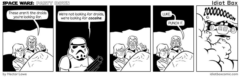 web comics star wars Did I Say Droids? I Meant Drugs