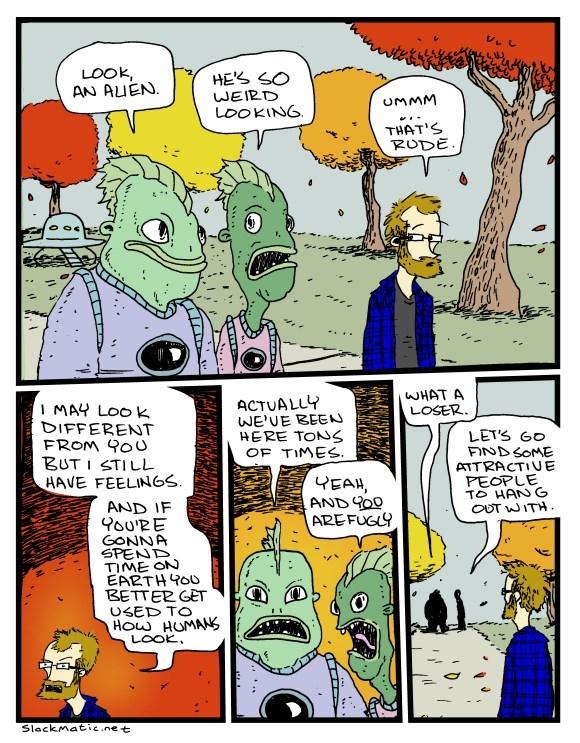 web comics aliens You Know What Happens When You Assume