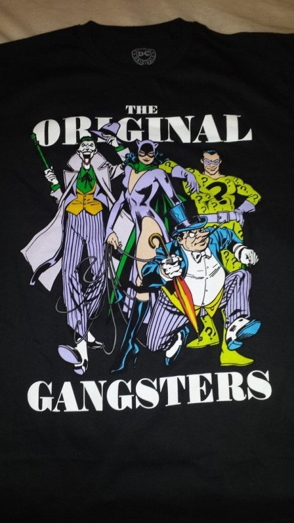 batman t shirt Batman Supervillains: The Original Gangsters