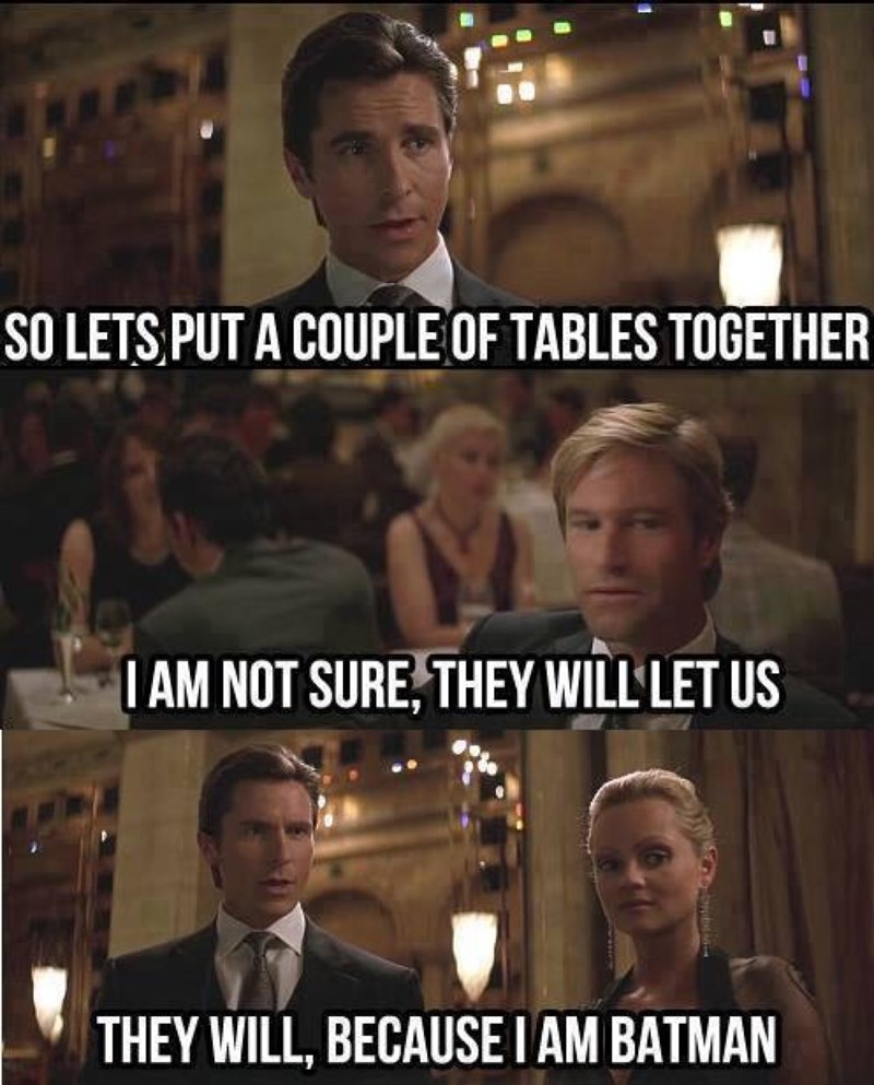 batman To the Bat Table