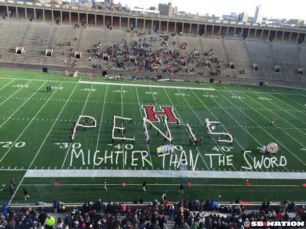 Did the Harvard Marching Band Just Spell Penis on the Field?