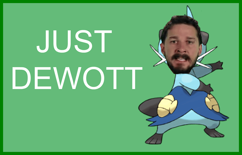Pokémon shia labeouf just do it dewott - 8585227520