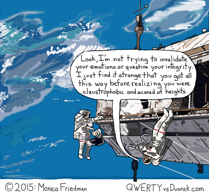astronaut web comics This Isn't the Most Practical Way to Face Your Fears