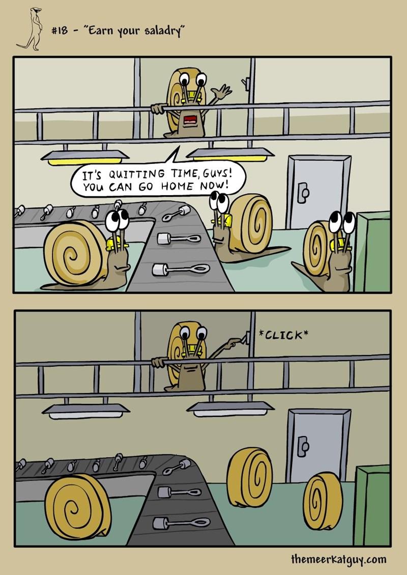 web comics snails The Commute is So Easy