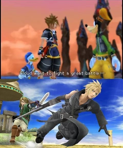 video games cloud went to fight a great battle