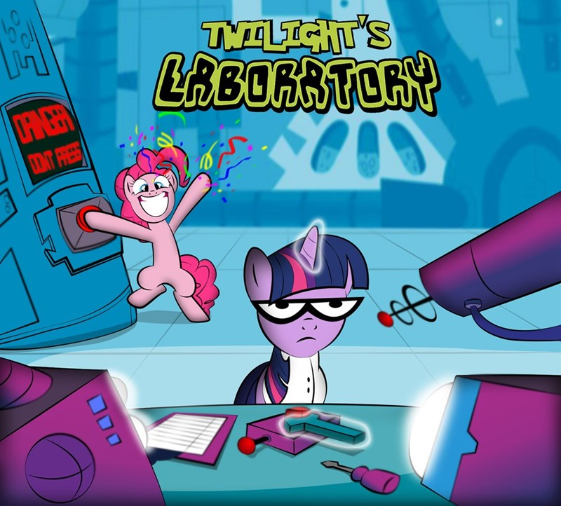 dexters-laboratory,twilight sparkle,pinkie pie