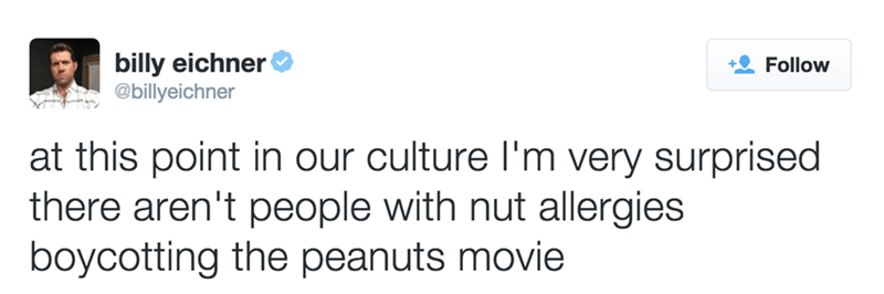 nut allergies boycotting peanuts movie