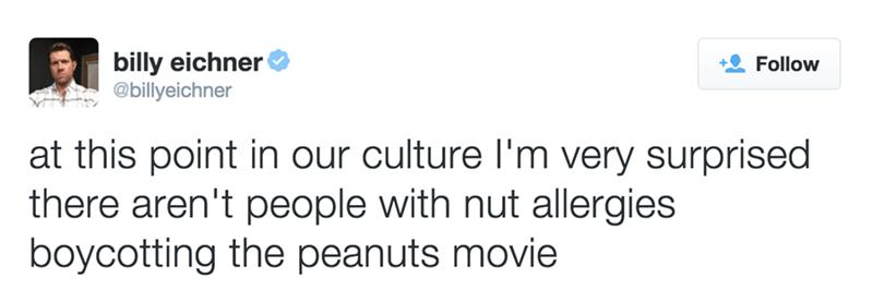 nut allergies boycotting peanuts movie
