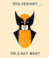 wolverine batman optical illusion Which Do You See?