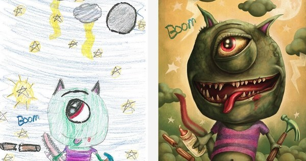 Art of The Day: 'The Monster Project' Brings Kid's Drawings to Life