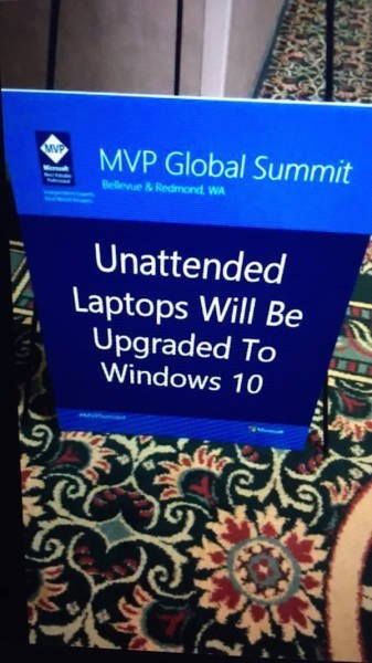 funny memes unattended laptops upgraded to windows 10