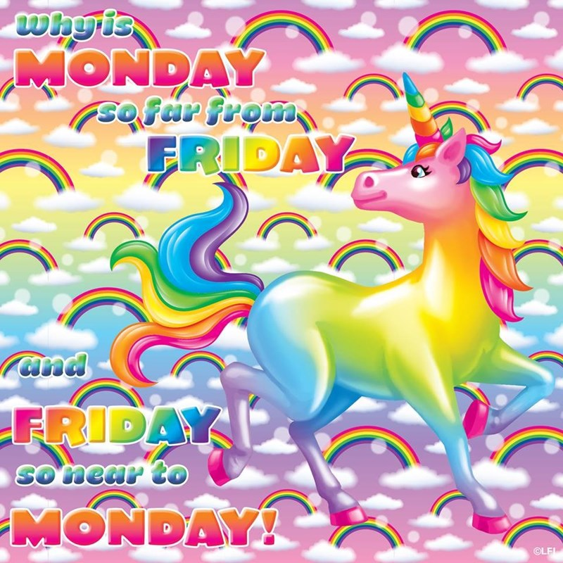 Fictional character - why is MONDAY sofar from FRIDAY and FRIDAY SOnear to MONDAY! OLF